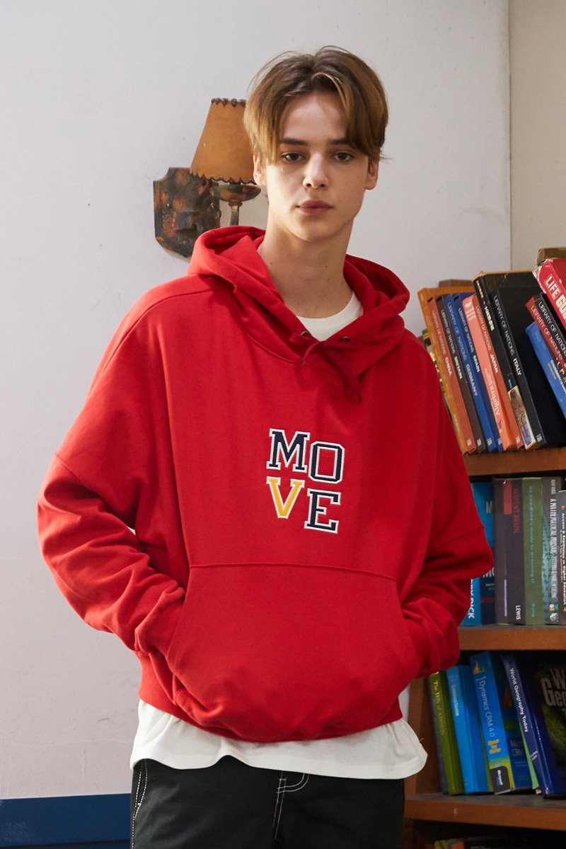 [unisex] move hood (red)