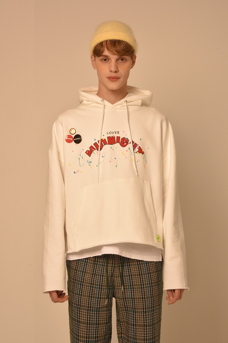 [unisex] badge hood (white)