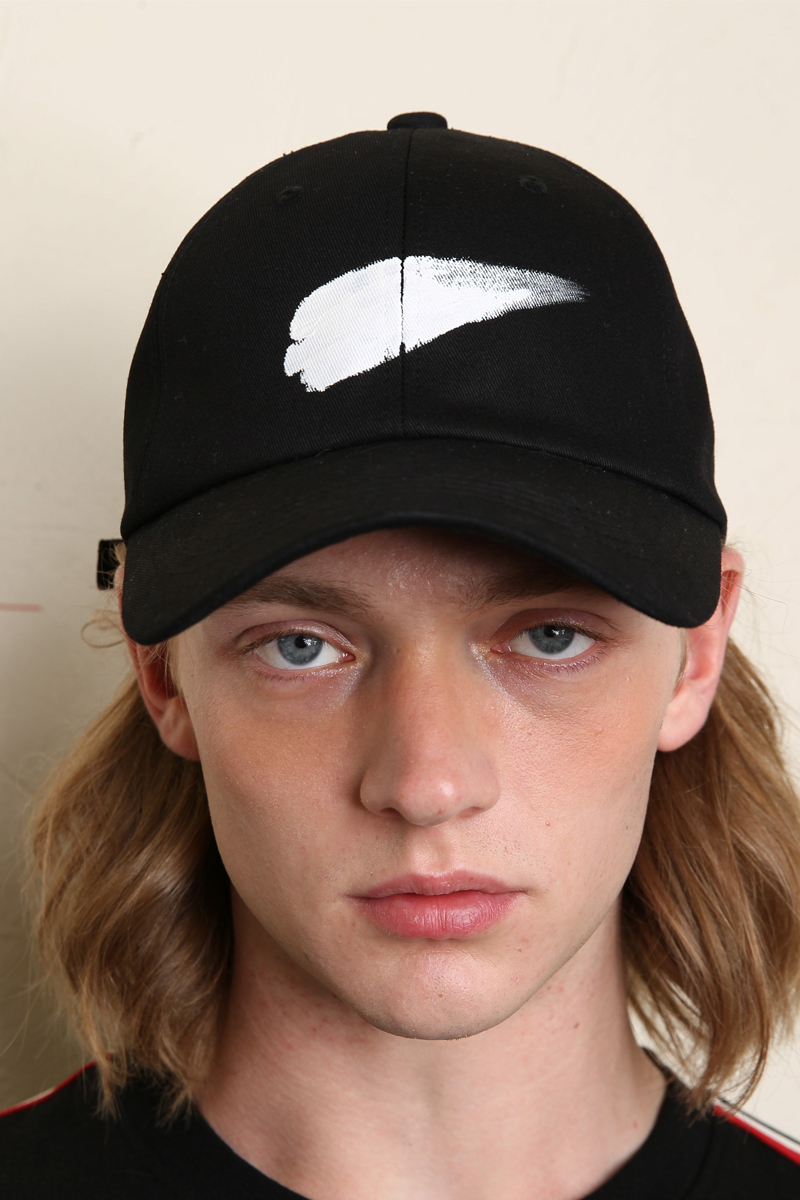 [unisex] paint cap (black)