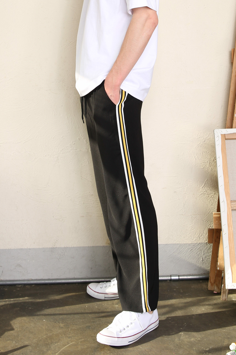 [unisex] side line slacks (black)