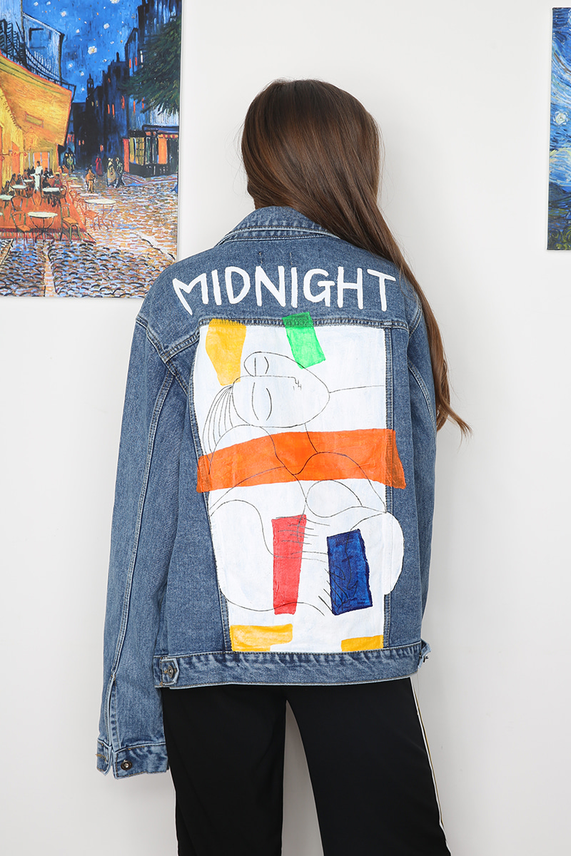 [unisex] picasso denim jacket