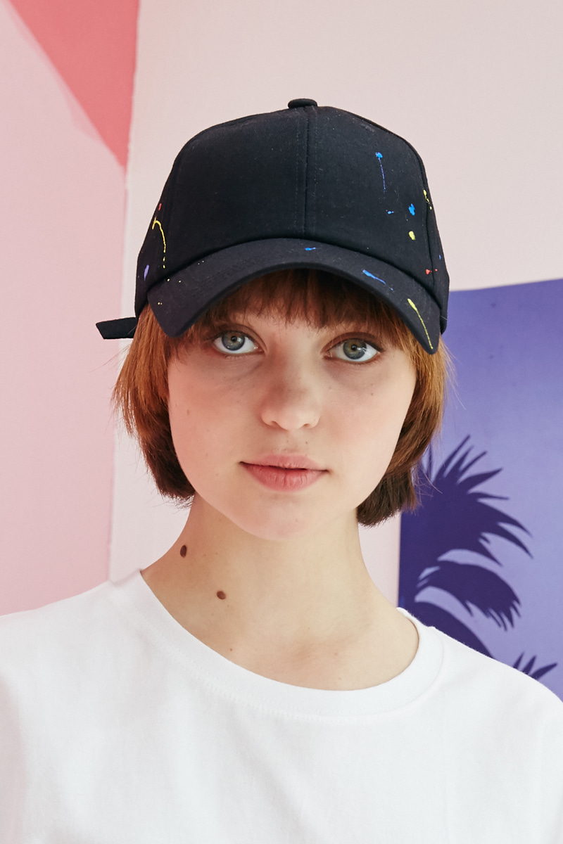 [unisex] painting cap (black)