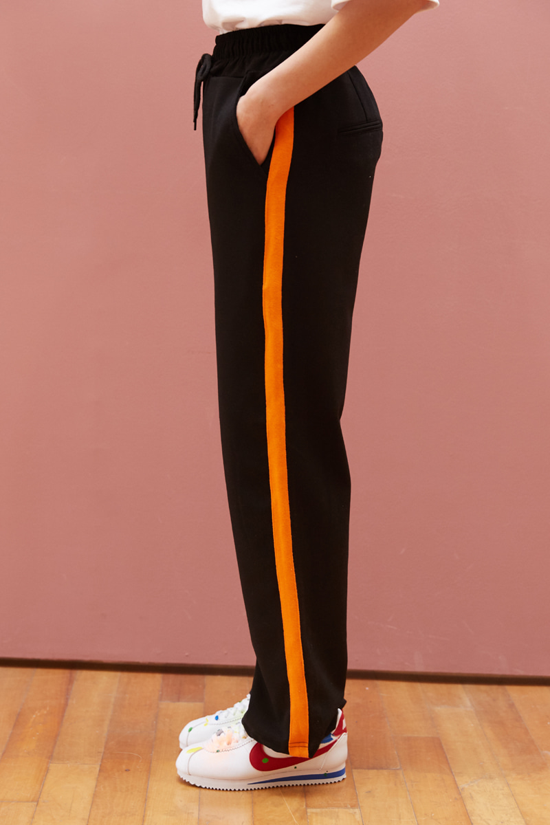 [unisex] orange slacks (black)