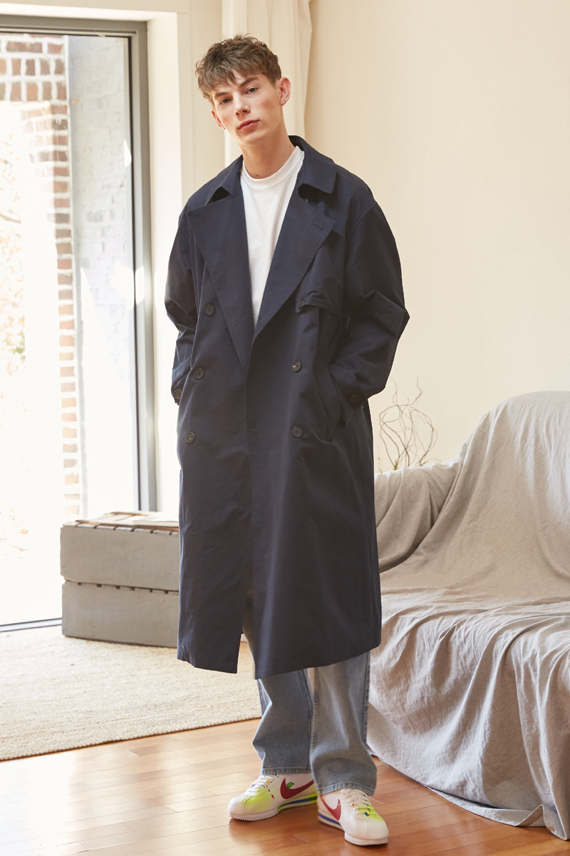 [unisex] put up coat (navy)