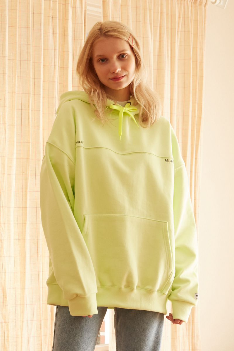 [unisex] line hood (light yellow)