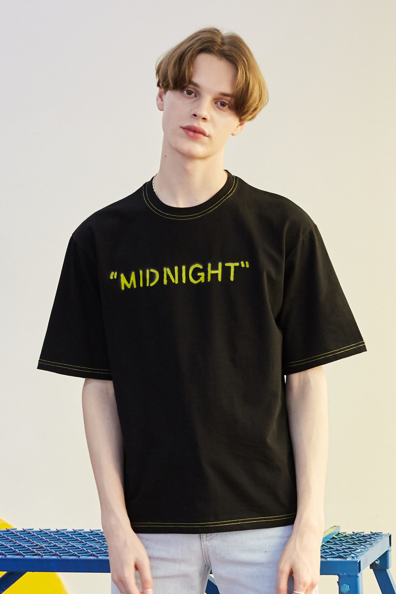 [unisex] midnight T (black)
