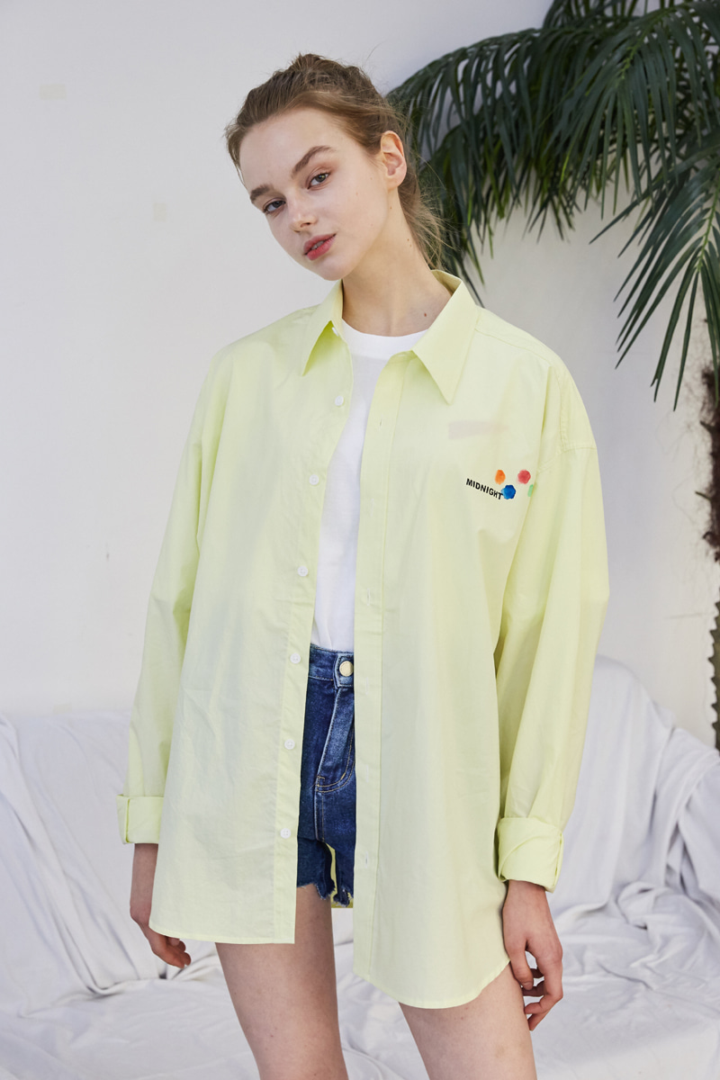 [unisex] logo shirts (light yellow)