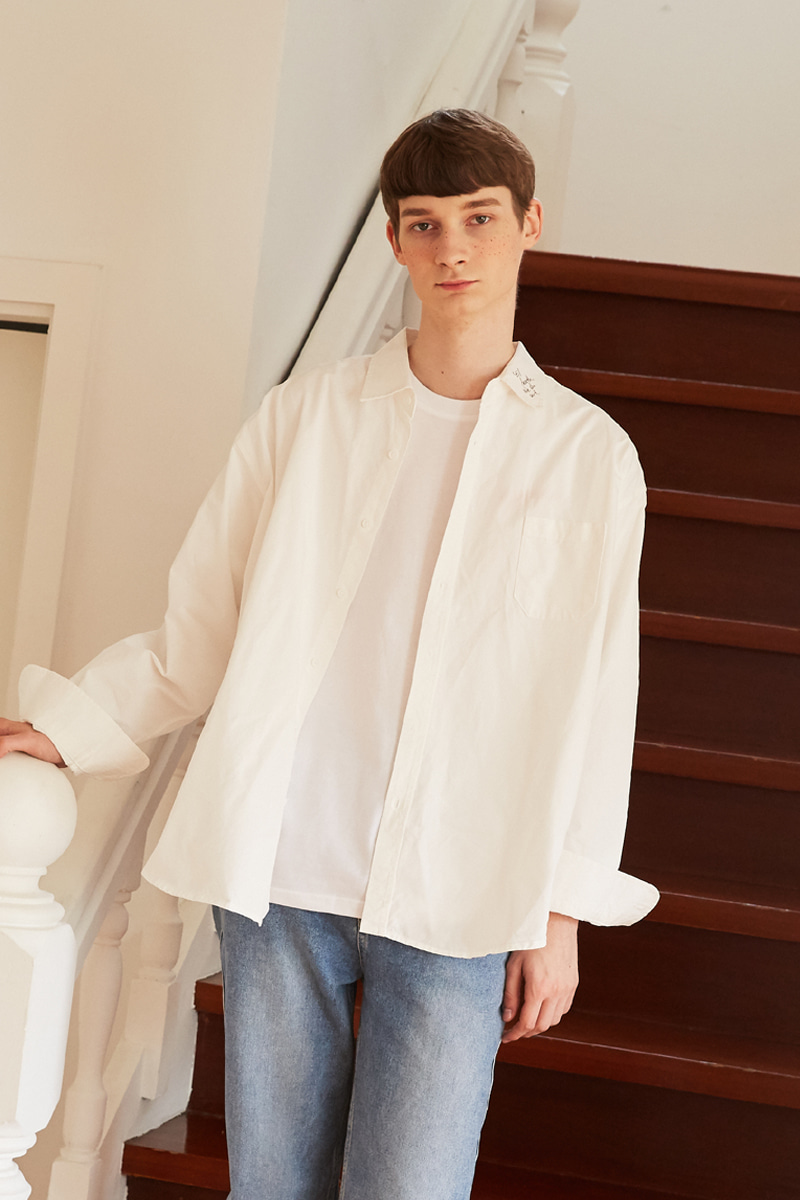 [unisex] neck shirts (white)