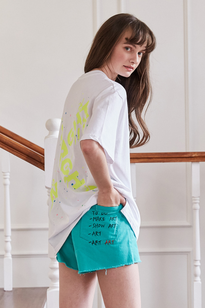 color point pants (green)