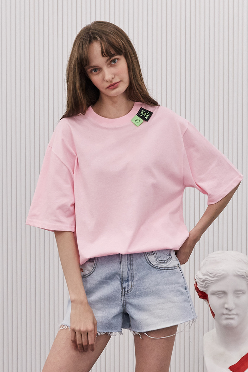 [unisex] label point t (pink)