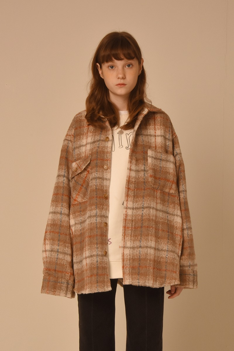 [unisex] 20 check shirts (beige)