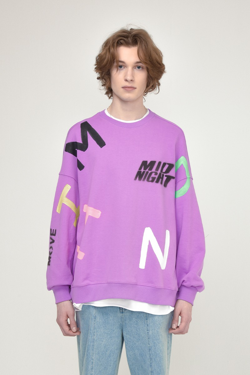 [unisex] alphabet mtm (purple)