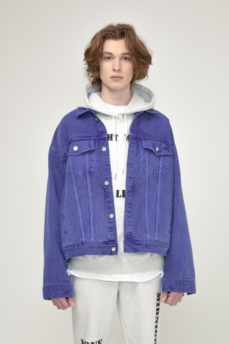 [unisex] pigment jacket (purple)